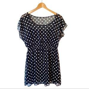 Black and White Polka Dot Forever 21 Dress